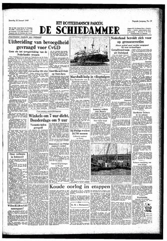 Rotterdamsch Parool / De Schiedammer 1949-01-22