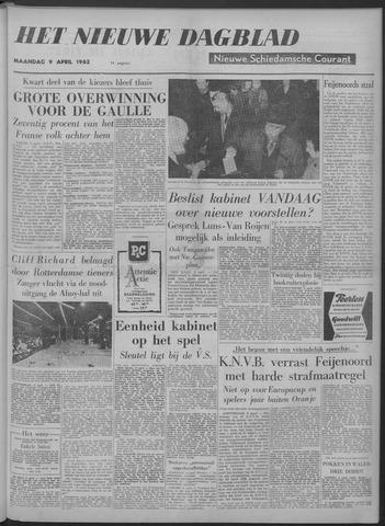 Nieuwe Schiedamsche Courant 1962-04-09