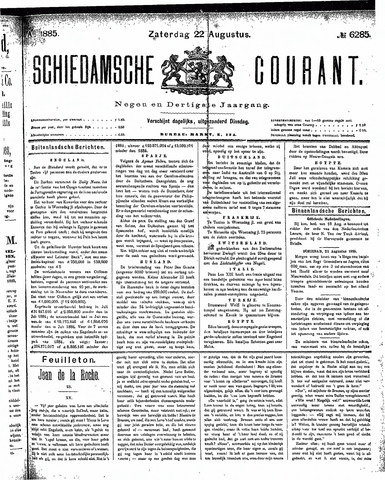 Schiedamsche Courant 1885-08-22