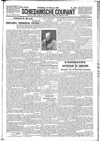 Schiedamsche Courant 1931-02-12