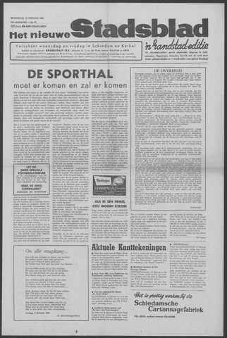 Het Nieuwe Stadsblad 1964-02-12