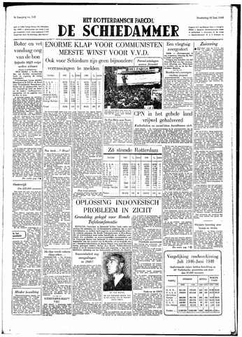Rotterdamsch Parool / De Schiedammer 1949-06-23