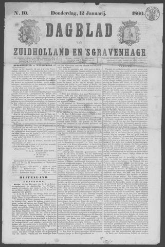Dagblad van Zuid-Holland 1860-01-12