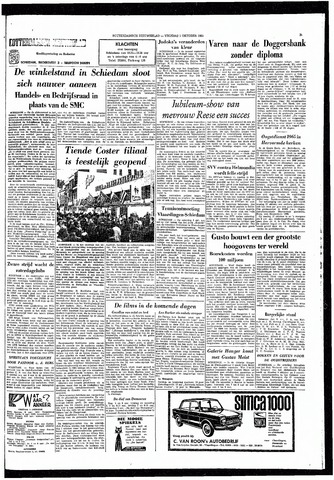 Rotterdamsch Nieuwsblad / Schiedamsche Courant / Rotterdams Dagblad / Waterweg / Algemeen Dagblad 1965-10-01