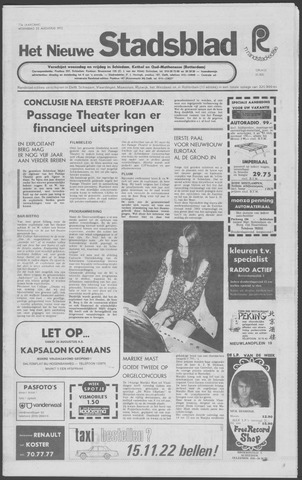 Het Nieuwe Stadsblad 1972-08-23