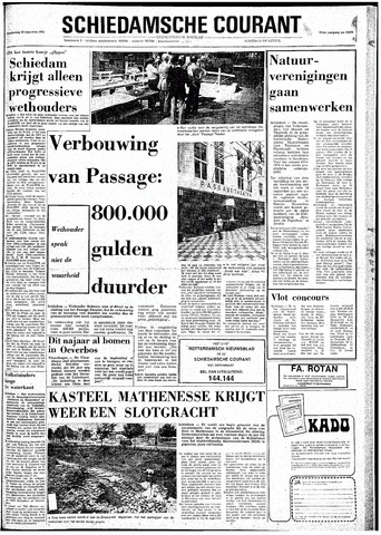 Rotterdamsch Nieuwsblad / Schiedamsche Courant / Rotterdams Dagblad / Waterweg / Algemeen Dagblad 1974-08-15