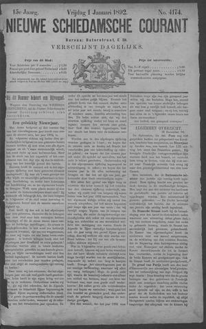 Nieuwe Schiedamsche Courant 1892-01-01