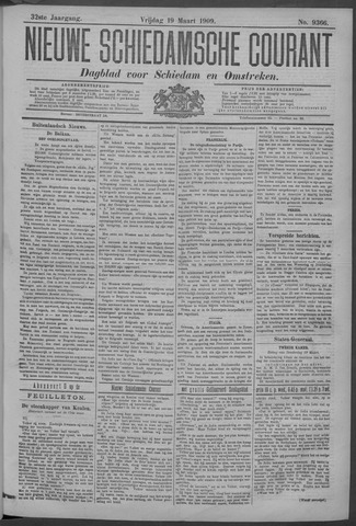 Nieuwe Schiedamsche Courant 1909-03-19
