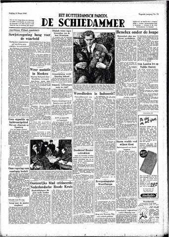 Rotterdamsch Parool / De Schiedammer 1949-03-25