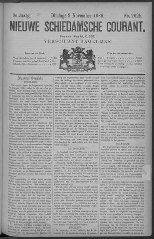 Nieuwe Schiedamsche Courant 1886-11-09