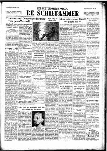 Rotterdamsch Parool / De Schiedammer 1948-01-08