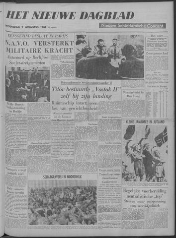 Nieuwe Schiedamsche Courant 1961-08-09