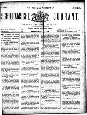 Schiedamsche Courant 1885-09-23