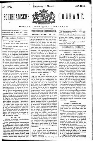 Schiedamsche Courant 1879-03-01