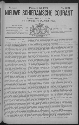 Nieuwe Schiedamsche Courant 1892-07-05