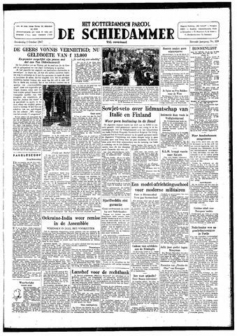 Rotterdamsch Parool / De Schiedammer 1947-10-02