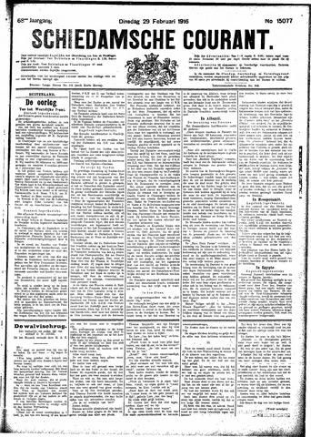 Schiedamsche Courant 1916-02-29