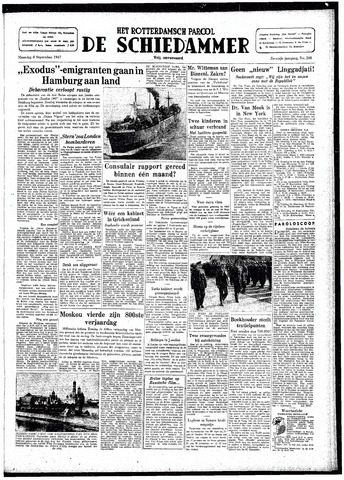Rotterdamsch Parool / De Schiedammer 1947-09-08