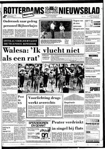Rotterdamsch Nieuwsblad / Schiedamsche Courant / Rotterdams Dagblad / Waterweg / Algemeen Dagblad 1983-06-27