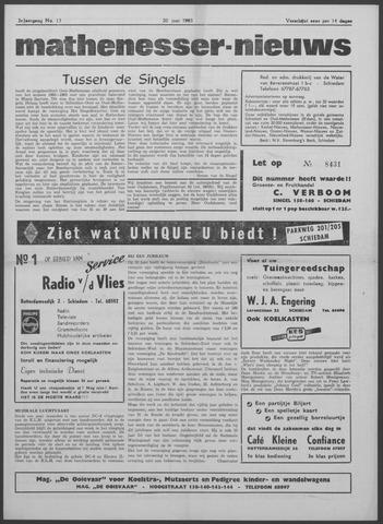 Mathenesser Nieuws 1963-06-20