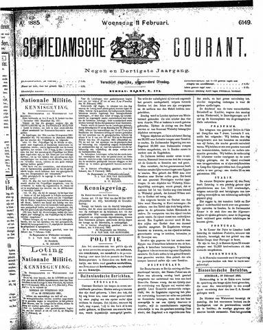 Schiedamsche Courant 1885-02-11