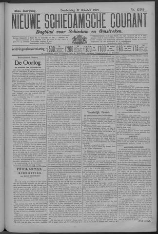 Nieuwe Schiedamsche Courant 1918-10-17