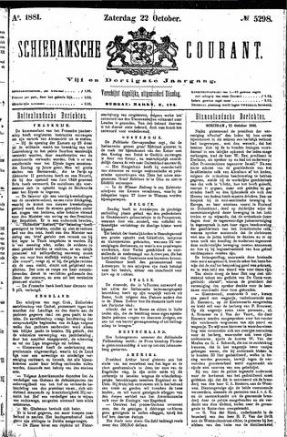 Schiedamsche Courant 1881-10-22