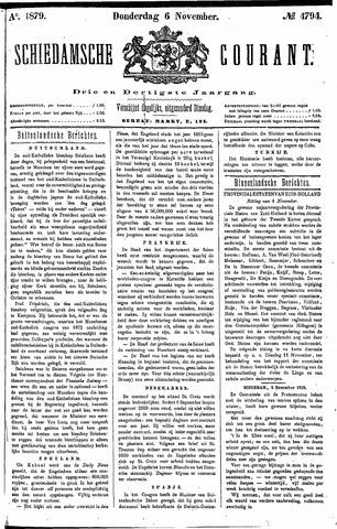 Schiedamsche Courant 1879-11-06