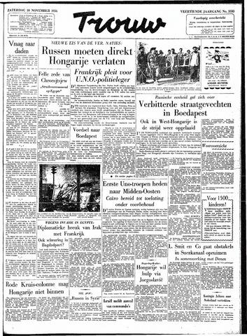 Trouw / De Rotterdammer 1956-11-10