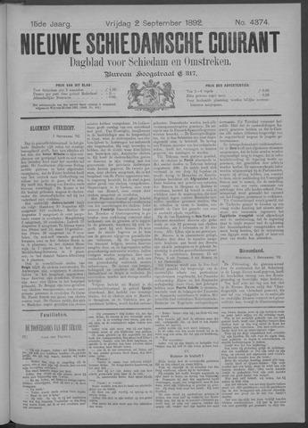 Nieuwe Schiedamsche Courant 1892-09-02