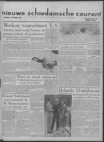 Nieuwe Schiedamsche Courant 1958-09-01