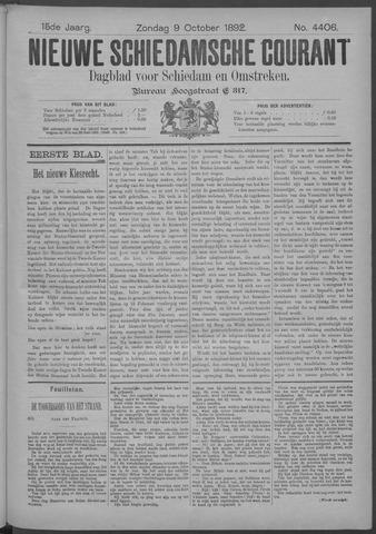 Nieuwe Schiedamsche Courant 1892-10-09