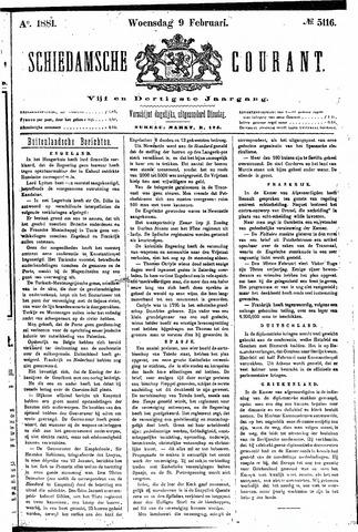 Schiedamsche Courant 1881-02-09
