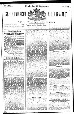 Schiedamsche Courant 1881-09-29