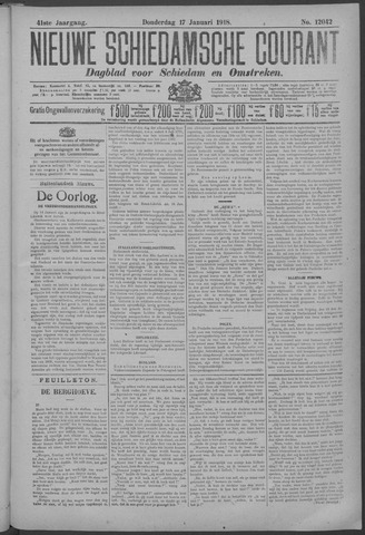 Nieuwe Schiedamsche Courant 1918-01-17