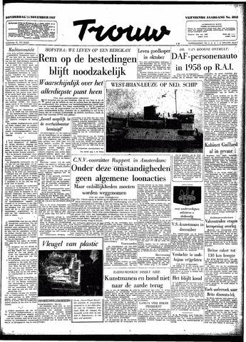 Trouw / De Rotterdammer 1957-11-14