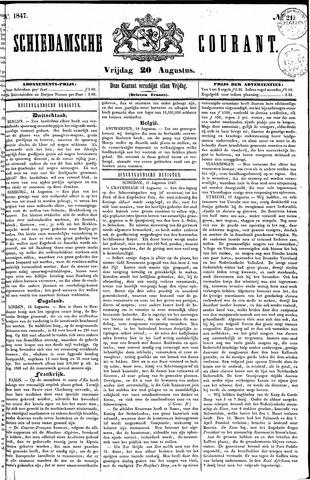 Schiedamsche Courant 1847-08-20