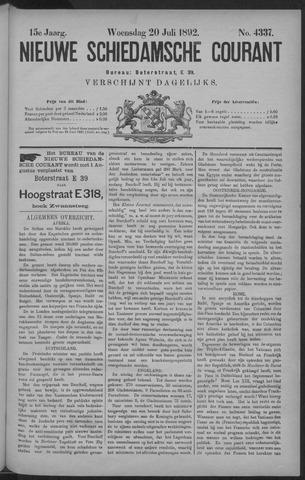 Nieuwe Schiedamsche Courant 1892-07-20