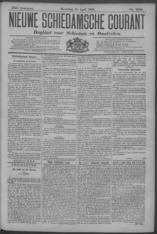 Nieuwe Schiedamsche Courant 1909-04-19