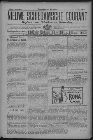 Nieuwe Schiedamsche Courant 1913-05-14