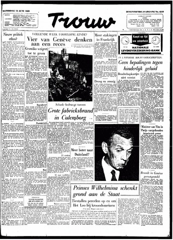 Trouw / De Rotterdammer 1959-06-13