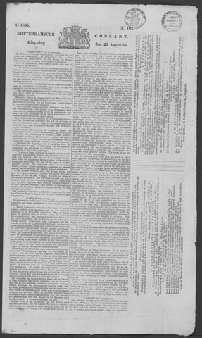 Rotterdamse Courant 1835-08-25