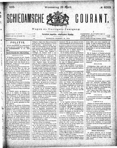 Schiedamsche Courant 1885-04-29