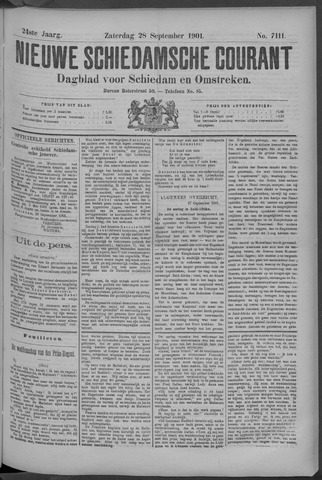 Nieuwe Schiedamsche Courant 1901-09-28