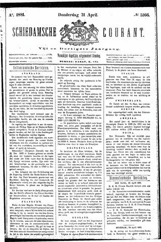 Schiedamsche Courant 1881-04-21