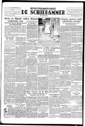 Rotterdamsch Parool / De Schiedammer 1947-06-19