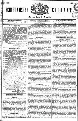 Schiedamsche Courant 1851-04-05