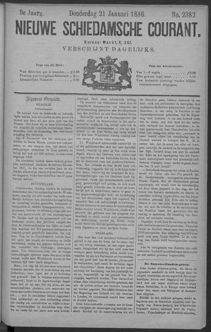 Nieuwe Schiedamsche Courant 1886-01-21