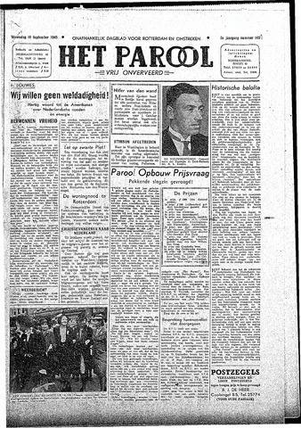 Rotterdamsch Parool / De Schiedammer 1945-09-19