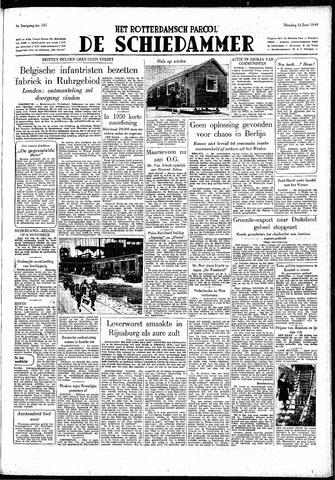 Rotterdamsch Parool / De Schiedammer 1949-06-14